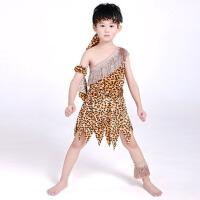 儿童演出服表演服猎人舞蹈服野人演出服豹纹装