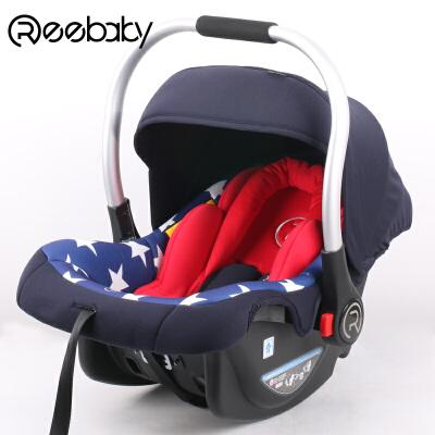 REEBABY婴儿提篮式安全座椅儿童车载汽车摇篮0-1岁3C认证正品定制 进口核心 腰部保护宝宝腰椎