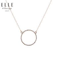 ELLE项链 爱情圆满 925银红宝石镀白金饰品 来自法国