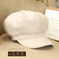 帽子女秋冬时尚韩版日系百搭画家帽蓓蕾帽学生鸭舌帽羊毛贝雷帽