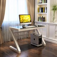 游戏电脑桌电脑台式桌钢化玻璃游戏用卧室电竞桌简易异形办公桌