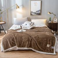 君别加厚保暖双层魔法绒毛毯冬季单双人羊羔绒毯子珊瑚绒盖毯床单被子 精英咖 双层魔法绒毛毯