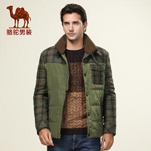 骆驼男装 新款男士立领棉衣 骆驼时尚棉衣 商务休闲 男款