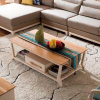 御品工匠 北欧现代 全实木 简约橡木创意茶几 客厅家具 配套茶几方几