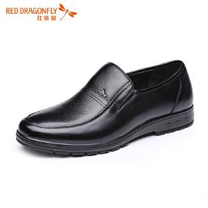 红蜻蜓男鞋职场绅士经典商务休闲皮鞋