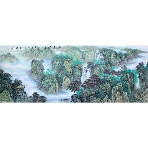 柳兴《山水30》著名画家
