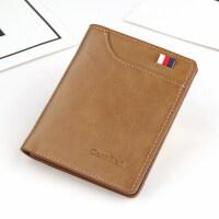 男士钱包短款复古学生竖款皮夹子青年驾驶证卡包男生小钱包潮