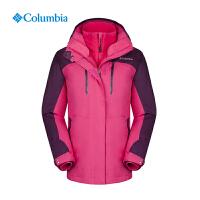 Columbia哥伦比亚户外女抓绒内胆加厚保暖防水三合一冲锋衣PL7855