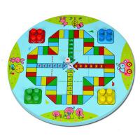 多功能跳棋飞行棋木质二合一棋幼儿童小学生大班中班益智玩具棋类
