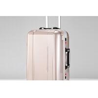拉杆箱行李箱旅行箱包男铝框20寸24登机箱密码时尚潮皮箱镜面女士世帆家SN1383