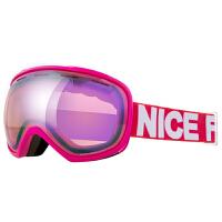 滑雪镜可卡近视镜滑雪镜大视野球面滑雪眼镜双层