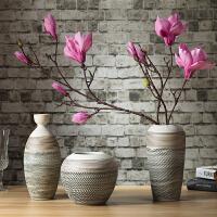 中式家居饰品陶瓷摆件三件套客厅创意艺术花瓶电视柜玄关酒柜摆设