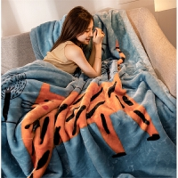 君别双面棉毯毛毯加厚双层单人双人毯子秋冬季保暖盖毯绒毯