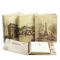 活页本 铁塔活页本 A5/B5-100页硬面笔记本 巴黎浪漫之都复古活页本 款式*