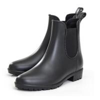 时尚 休闲雨鞋 雨靴 马丁雨鞋 英伦水胶鞋 松紧 短 复古