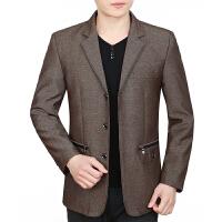 2018082320007702018 新款中年男士夹克衫中老年人男装春秋季商务修身外套男2018新款爸爸装性感潮流