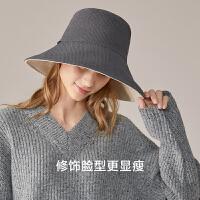 蕉下穹顶系双面遮脸保暖秋户外休闲百搭新款女防晒帽子