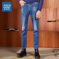[5折秒杀价:56.9元,仅限12.7-8]真维斯男装 冬装新款 雨纹轻商务牛仔裤