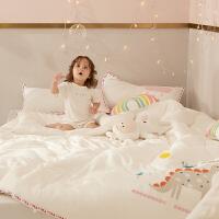 多喜爱儿童被子秋冬被芯纯棉宝宝A类抑菌幼儿园全棉绣花棉被0.9米床