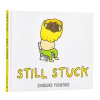 【中商原版】衣服脱不下来啊!英文原版 Still Stuck 吉竹伸介 趣味儿童教育绘本 亲子互动绘本 幽默搞笑 生活