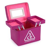 韩国3ce化妆包超大号容量便携手提化妆箱护肤品收纳包洗漱包 紫色 送镜子+梳子