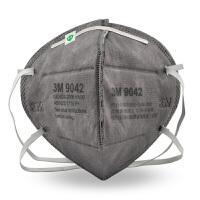 3M口罩活性炭呼吸阀防雾霾粉尘喷漆异味装修甲醛有机蒸汽 9042头戴款无呼吸阀