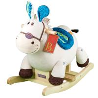 摇摇马木质毛绒儿童木马宝宝婴幼儿摇椅1-3岁益智玩具
