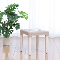 禧天龙塑料凳家用加厚成人儿童换鞋凳简约现代组装钓鱼凳