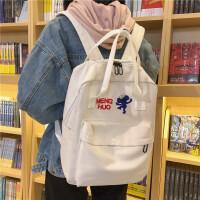 日系原宿风书包女韩国ulzzang 可爱卡通双肩包街拍少女帆布背包