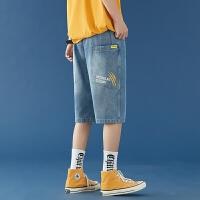 牛仔短裤男夏季薄款2021新款韩版潮流时尚百搭五分裤子