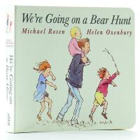 我们要去捉狗熊 英文原版纸板书We're Going on a Bear Hunt廖彩杏有声书单 2-3-4-6岁英语早教启蒙 韵文图画书 撕不烂 奥克森伯里
