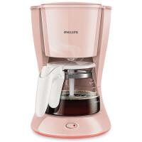 飞利浦(PHILIPS)滴滤式咖啡壶 HD7431/30 家用型智能美式咖啡机 优雅粉色