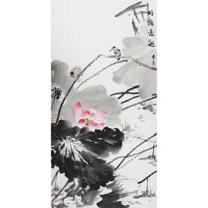 紫珊瑚画院一级美术师 鲁青《荷塘逸趣》