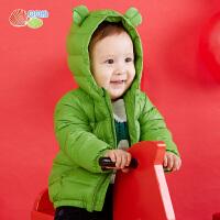 贝贝怡轻薄连帽羽绒服冬季新款男女宝宝保暖外套外衣184S573