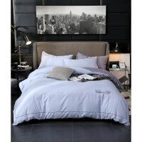 全棉刺绣四件套北欧风床单被套酒店床上用品纯棉床品套件