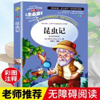 昆虫记 青少年儿童文学读物 (中小学生课外阅读指导丛书) 无障碍阅读 彩插本 少儿6-8-9-12岁四五六年级必读书籍
