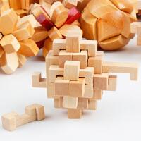 成人益智智力儿童玩具孔明锁套装鲁班锁解锁9件随机发