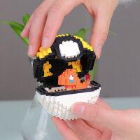 微型小颗粒乐高皮卡丘神奇宝贝宠物小精灵球拼装积木模型拼图摆件