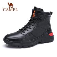 Camel骆驼男鞋 2018新款硬朗时尚高帮工装鞋靴牛皮潮马丁靴男靴子