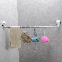 双庆单杆毛巾架浴室强力吸盘挂钩毛巾杆毛巾挂卫生间挂毛巾的架子