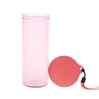 特百惠水杯 莹彩430随手杯便携防漏简约塑料男女学生儿童运动杯子 石榴红
