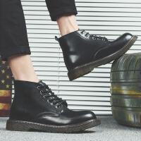 男士低帮马丁靴欧美时尚短靴秋冬季韩版潮靴工装靴子男单鞋子 CF 12613