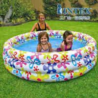 INTEX彩色斑点水池56440 家庭水池 婴儿游泳池沙池 充气水池