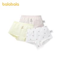 【2件6折:47.4】巴拉巴拉女童�妊�棉三角��和�短�中大童����透���力印花三�l�b