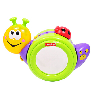 费雪婴儿玩具儿童学爬6个月宝宝音乐爬行小蜗牛早教益智R8639