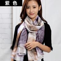丝巾女韩版春秋季长款格子印花围巾时尚百搭女士大披肩两用