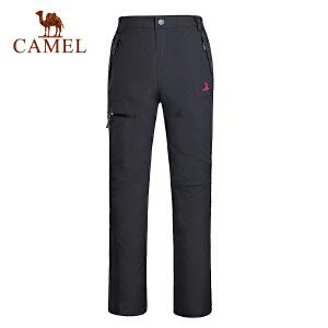 camel骆驼女款冲锋裤 防风保暖徒步登山冲锋裤