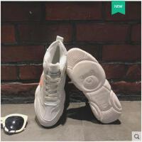 小熊鞋子女冬加绒小白鞋韩版新款老爹鞋智熏鞋超火网红运动鞋