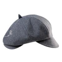 时尚帽子女冬天贝雷帽保暖羊毛帽复古秋冬画家帽潮毛呢帽八角帽
