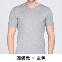 男士短袖T恤 男莫代尔纯棉V领圆领打底衫半袖男背心夏
